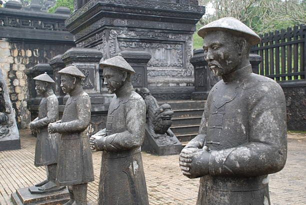 Soldier Statues  khai dinh tomb stock pictures, royalty-free photos & images