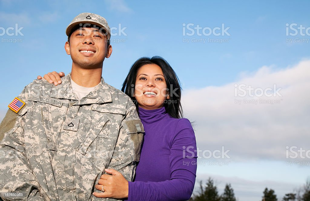 U S Soldier & Wife royalty-free stock photo