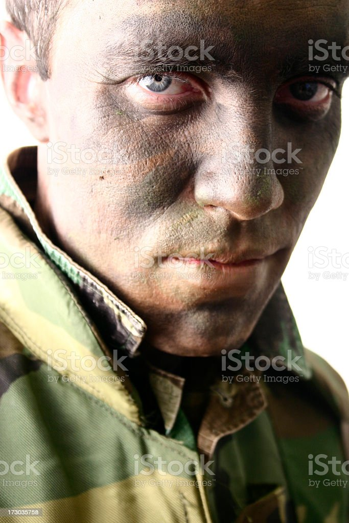 Soldier with an attitude royalty-free stock photo