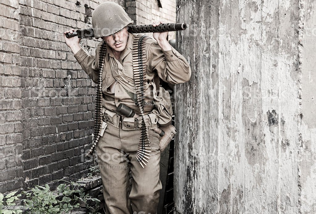 Soldier WWII stock photo