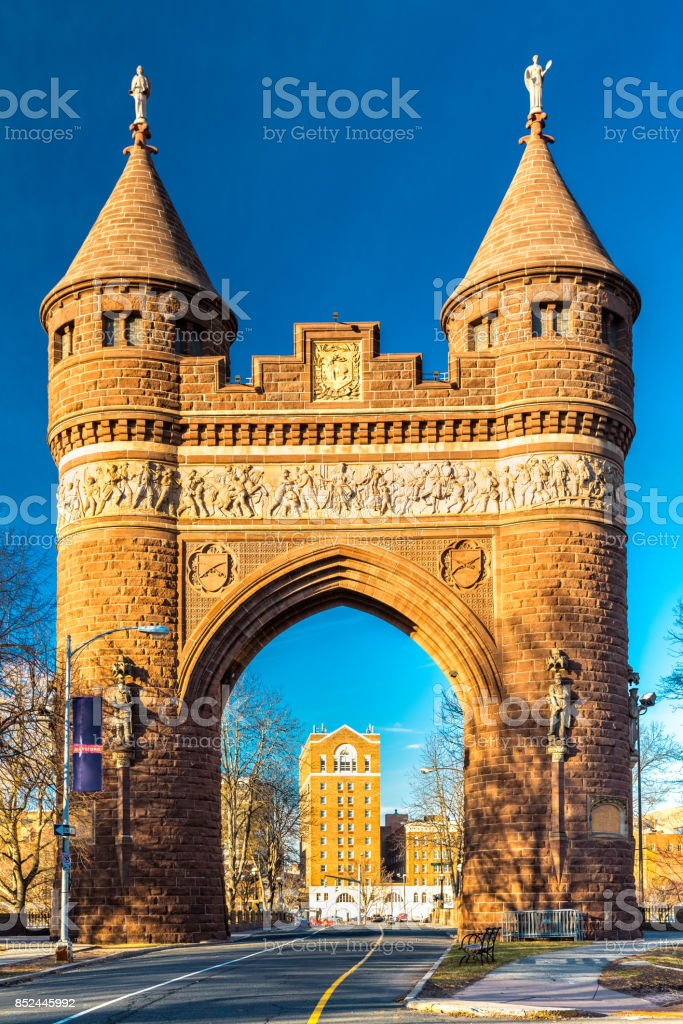 Soldiers and Sailors Memorial Arch stock photo