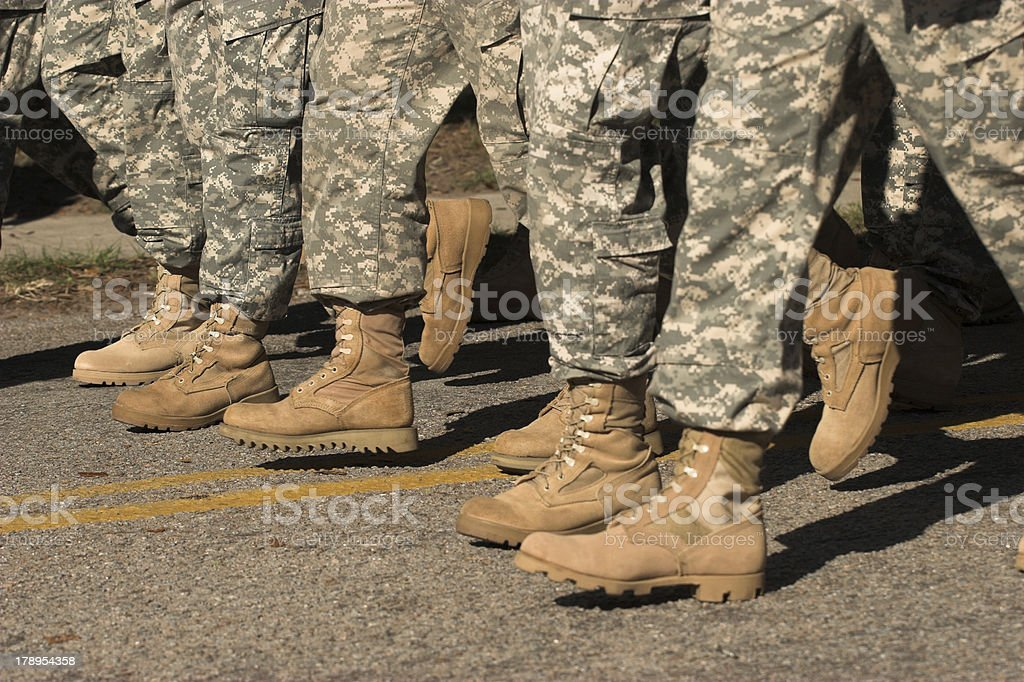 soldiers boots royalty-free stock photo
