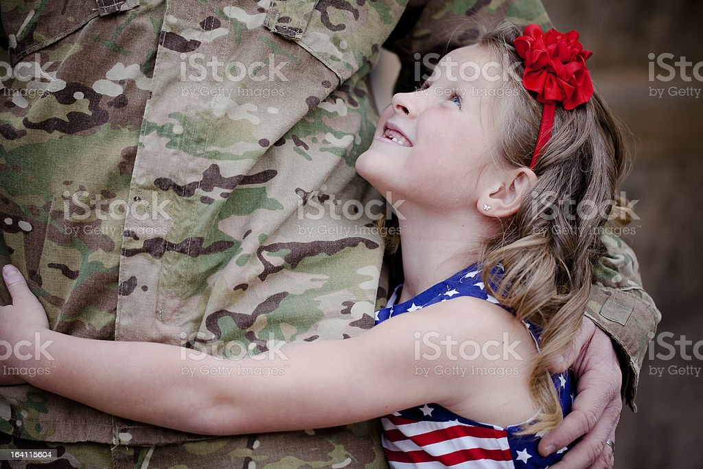 Soldier's Daughter stock photo