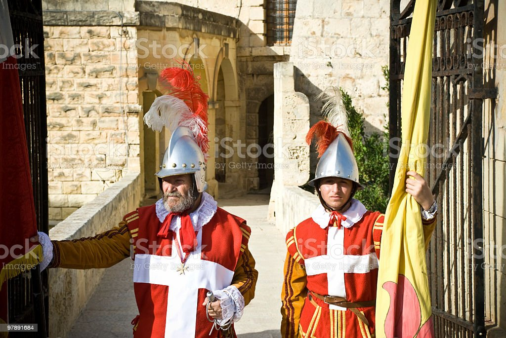 Soldiers Defending the Entrance royalty-free stock photo