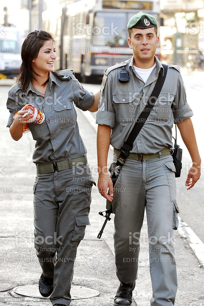 Soldiers friendship. stock photo