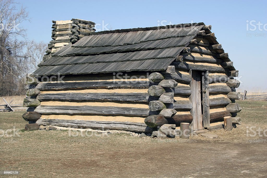 Soldier's hut, Valley Forge, Pennsylvania royalty-free stock photo