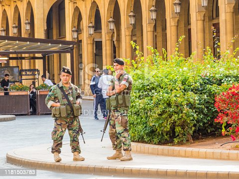 istock Soldiers in Beirut, Lebanon 1181503783