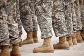 istock Soldiers in formation 182794216