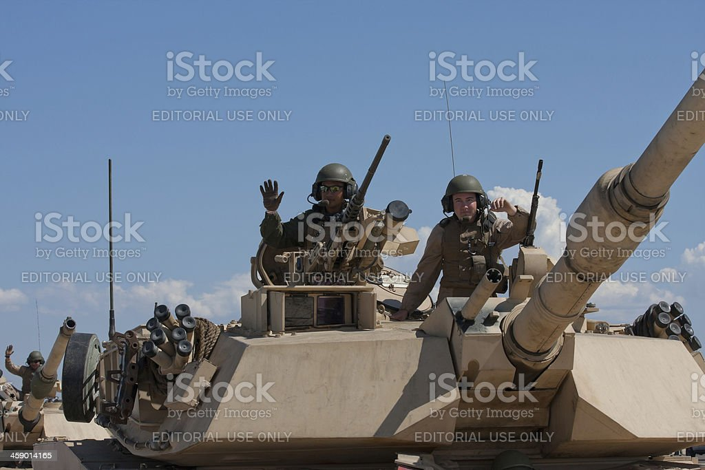 Soldiers In Tank stock photo