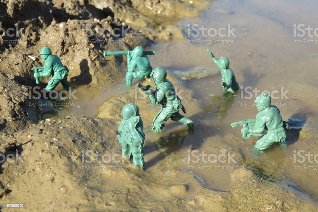 soldiers in war Concept stock photo