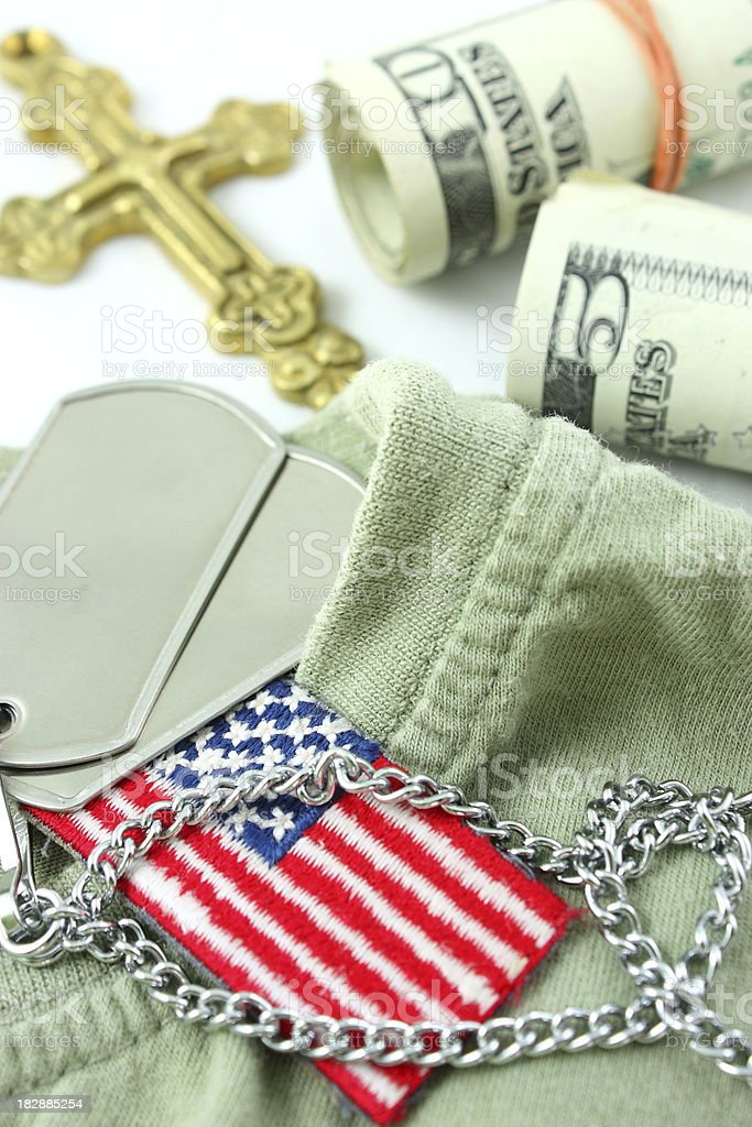 Soldier's life stock photo