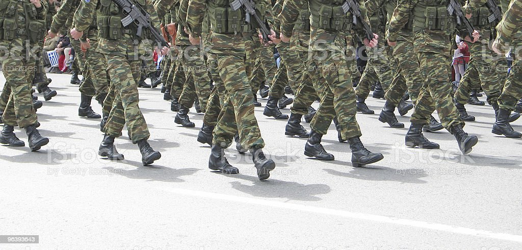Soldiers Marching - Royalty-free Adult Stock Photo