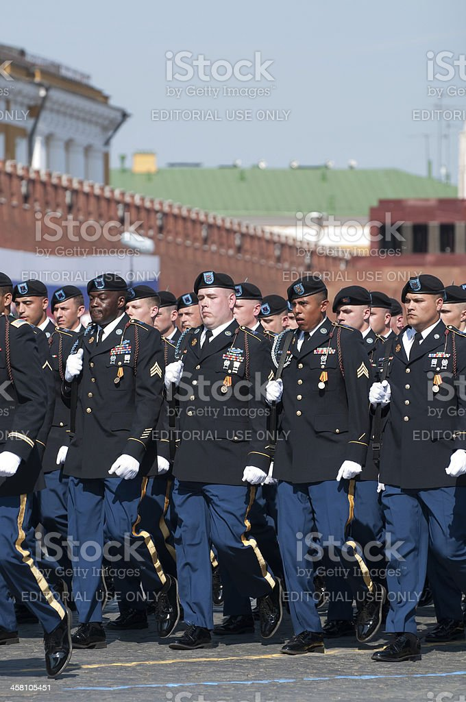 Soldiers of the 18th Infantry Regiment's 2nd Battalion royalty-free stock photo