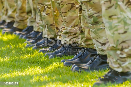 Soldiers on parade