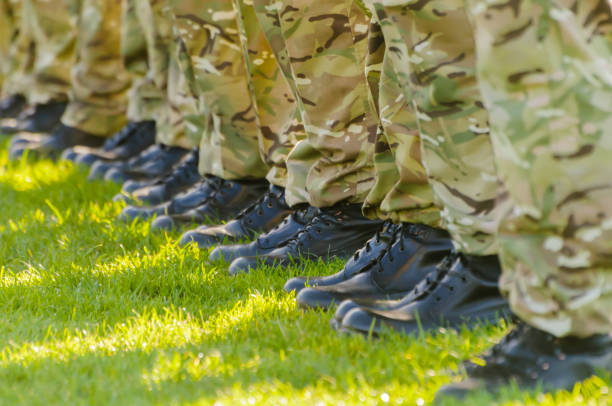 Soldiers on parade Soldiers on parade military parade stock pictures, royalty-free photos & images