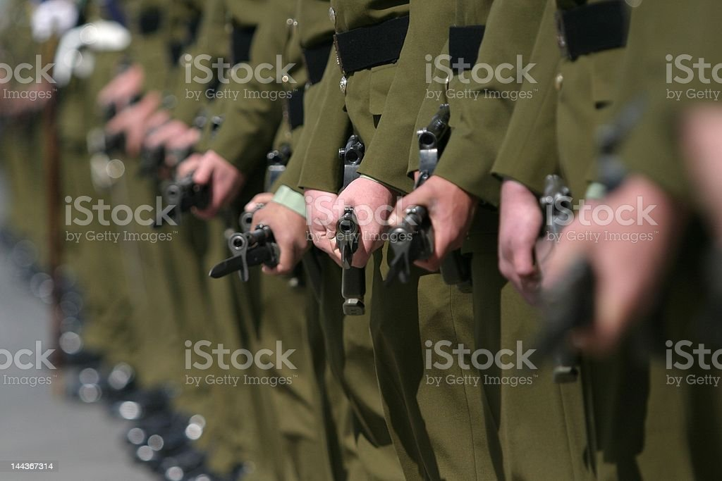 Soldiers on parade royalty-free stock photo