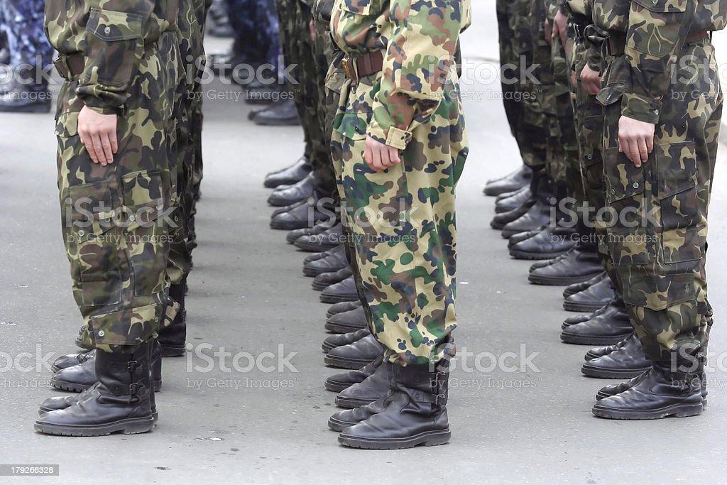 Soldaten auf parade – Foto