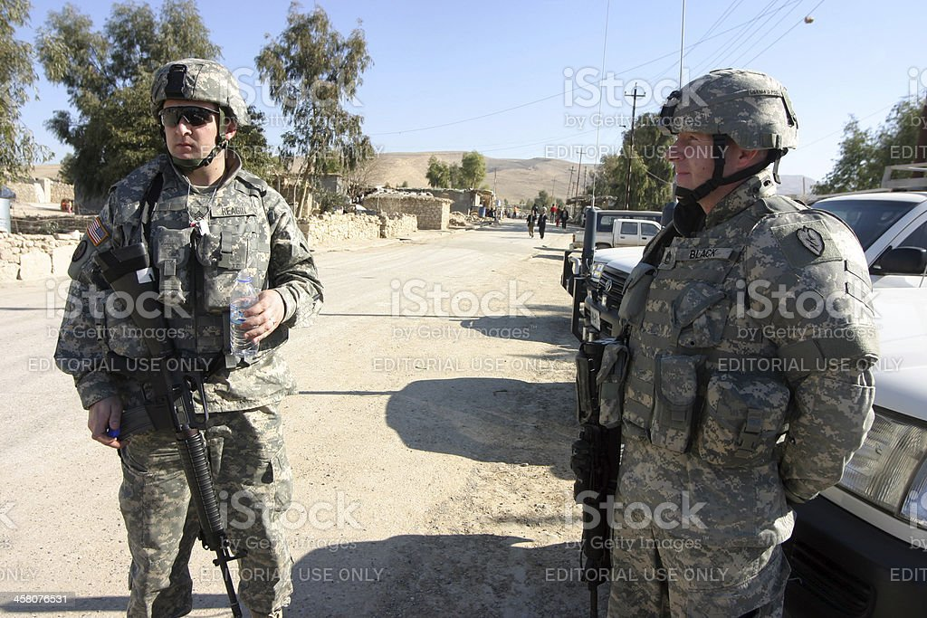 US Soldiers stock photo
