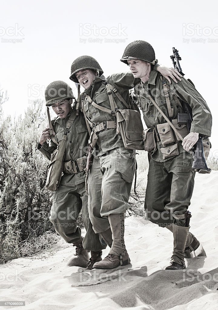 WWII Soldiers stock photo
