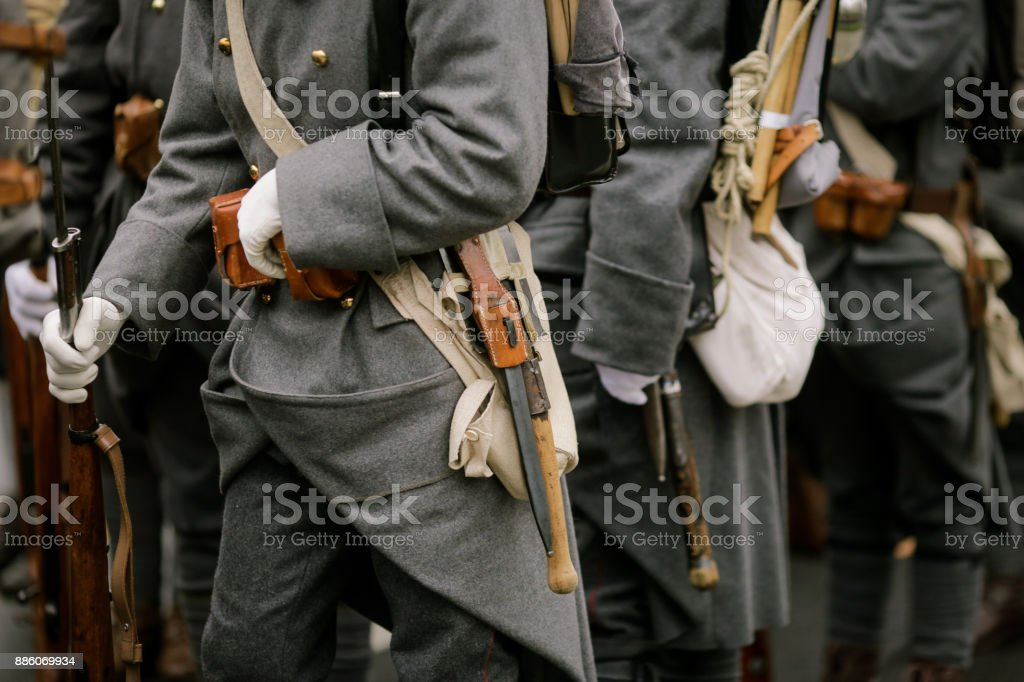 WWI soldiers stock photo