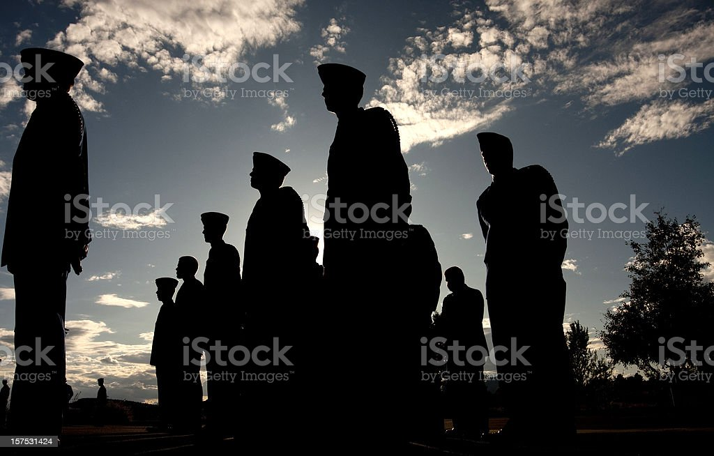 Soldiers Receive Military Orders stock photo