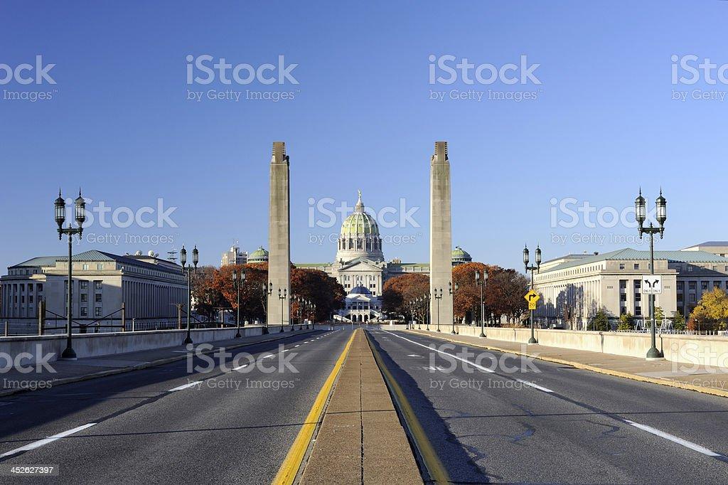 Soldiers & Sailors Memorial Bridge in Harrisburg stock photo
