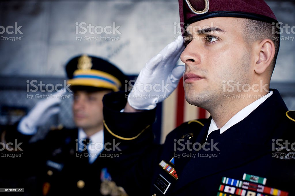Soldier's Salute royalty-free stock photo
