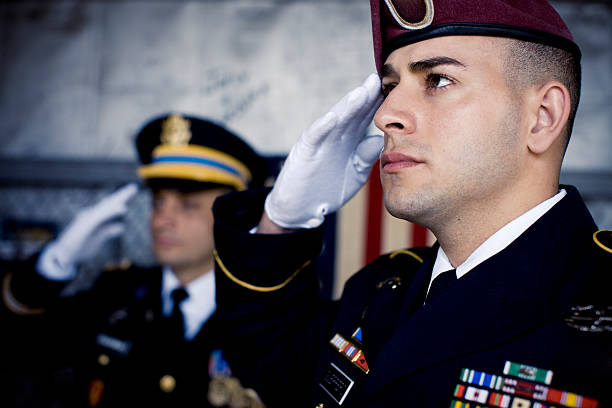 Soldier's Salute stock photo