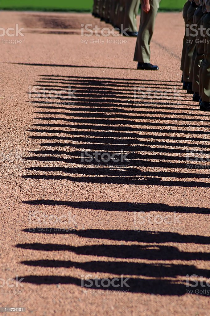 soldiers shadows royalty-free stock photo