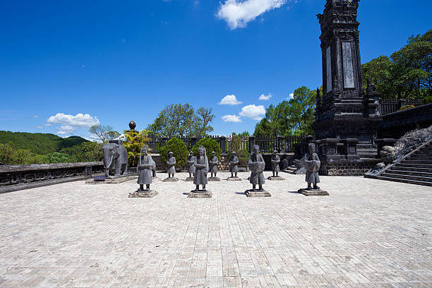 Soldiers statues at Khai Dinh Emperor's Mausoleum, Hue, Vietnam Hue, Vietnam khai dinh tomb stock pictures, royalty-free photos & images