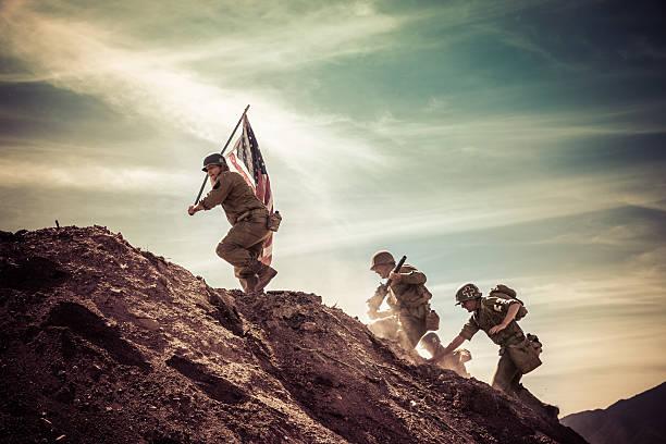 WWII Soldaten eine Hill – Foto
