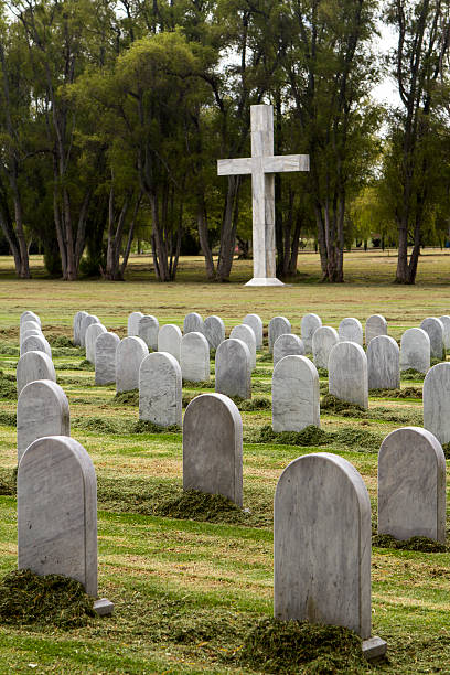 Soldiers tombs stock photo