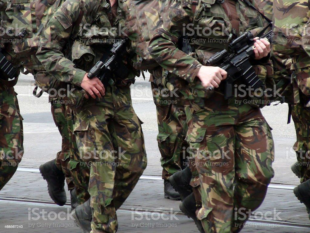 Soldiers War Preparation stock photo