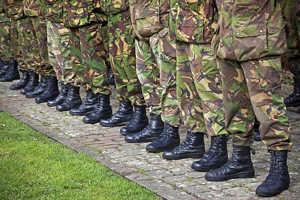 Soldiers # 1 XXXL stock photo