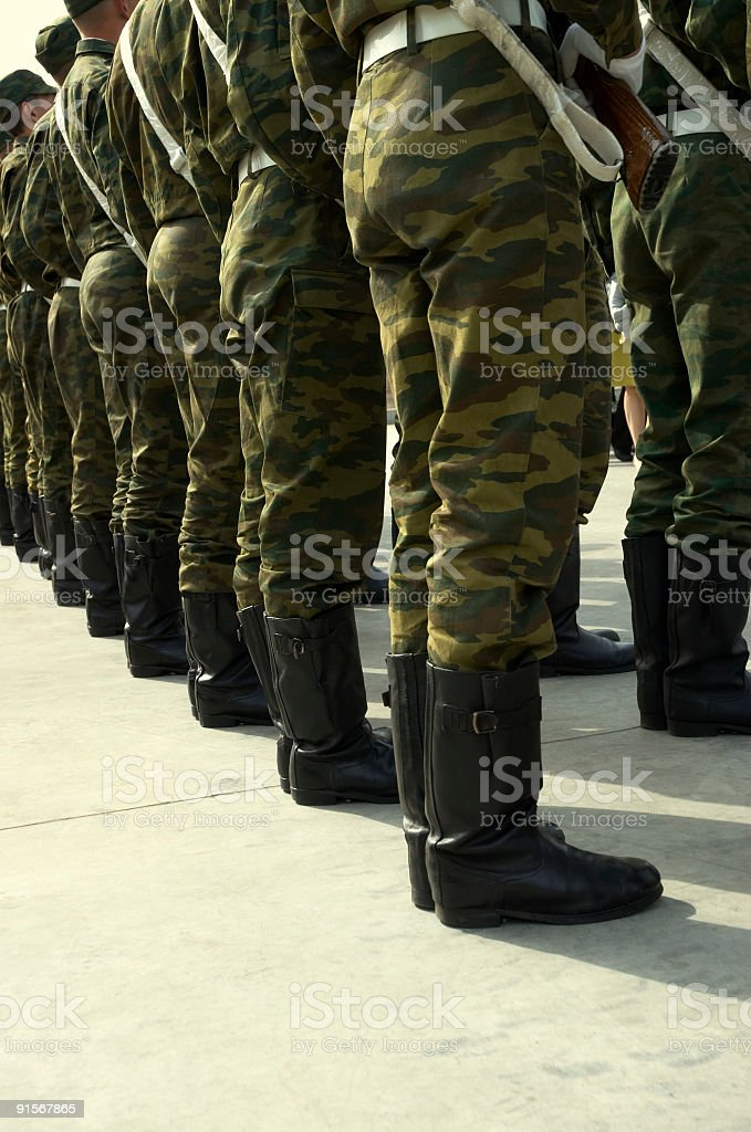 soldiery royalty-free stock photo