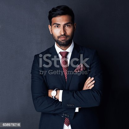 istock Solely fixed on corporate success 638979216