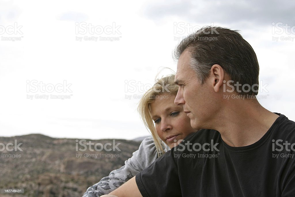 Solemn Couple royalty-free stock photo