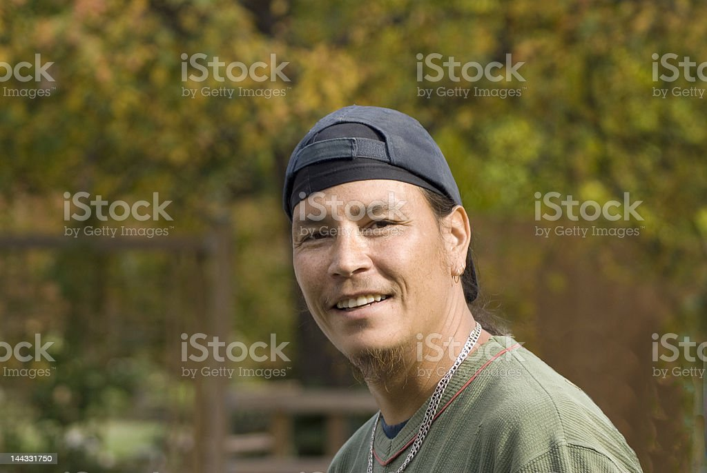 Solemn look of young adult male royalty-free stock photo