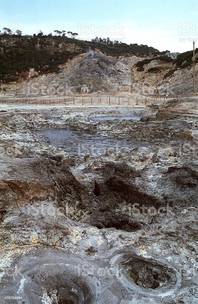 solfatara stock photo