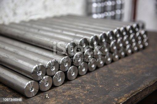 istock Solid aluminum tubes 1097346946