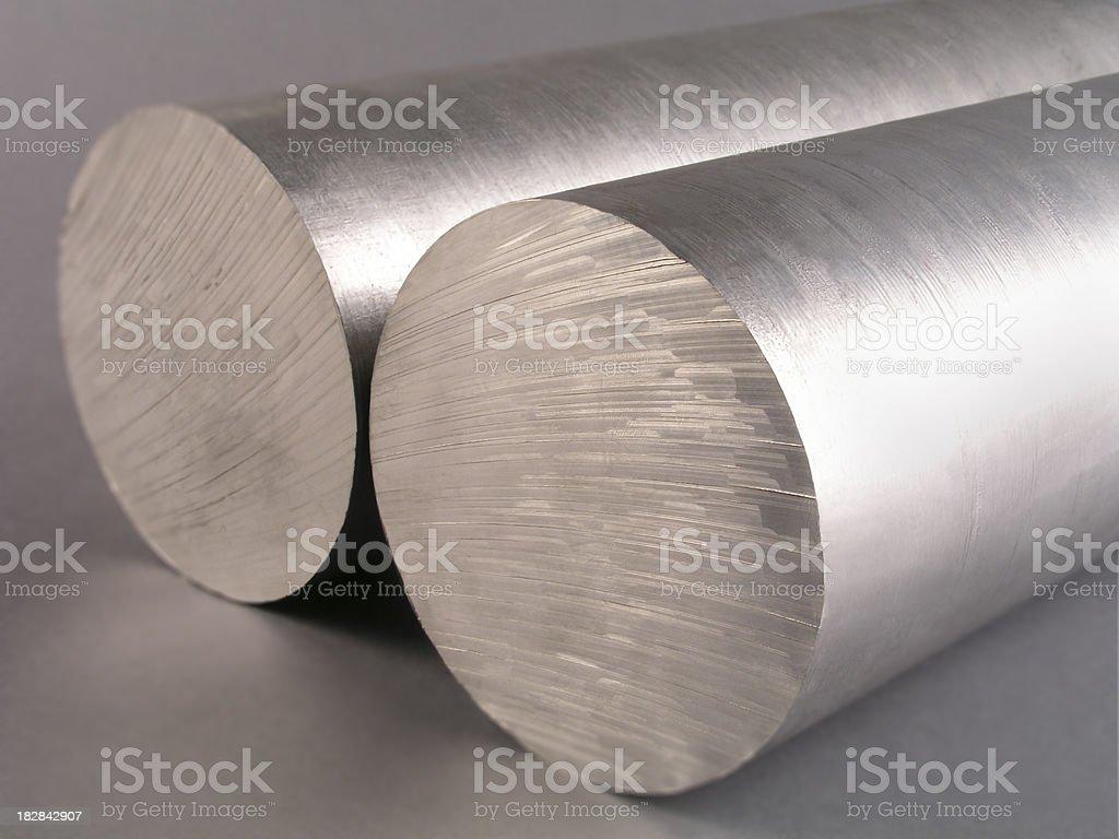 Solid aluminum tubes royalty-free stock photo