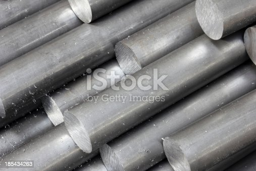 istock Solid aluminum tubes 185434263