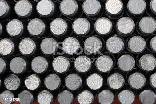 istock Solid aluminum tubes 185434266