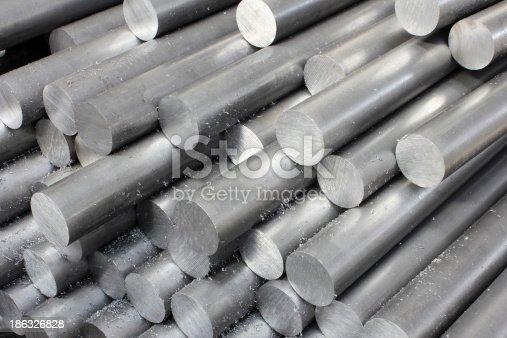 istock Solid aluminum tubes 186326828