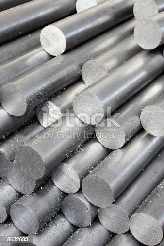 istock Solid aluminum tubes 186326831