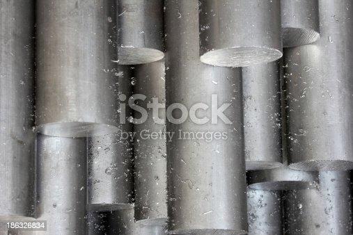 istock Solid aluminum tubes 186326834