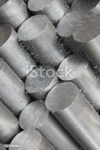 istock Solid aluminum tubes 186326838