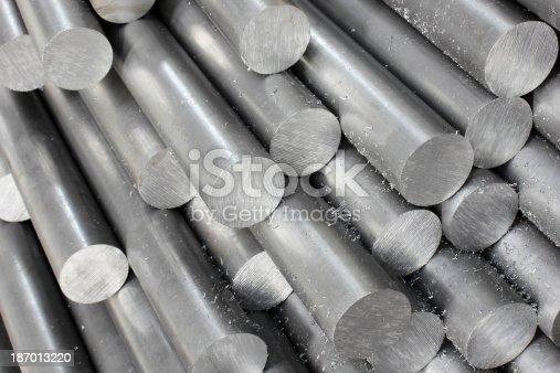 istock Solid aluminum tubes 187013220