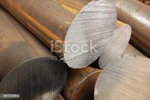 istock Solid aluminum tubes 187222914