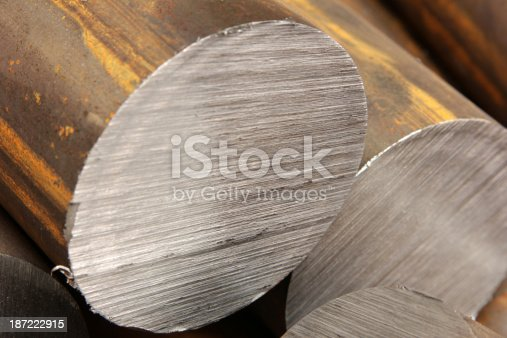 istock Solid aluminum tubes 187222915